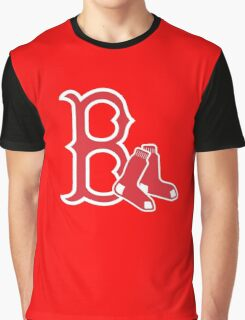 Boston Red Sox with Socks Graphic T-Shirt