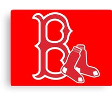 Boston Red Sox with Socks Canvas Print