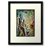 Scanners art print david cronenberg horror sci fi science fiction 1981 80's film movie michael ironside body horror cult classic joe badon Framed Print