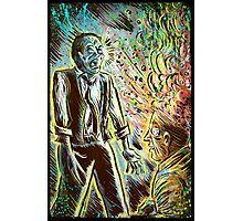Scanners art print david cronenberg horror sci fi science fiction 1981 80's film movie michael ironside body horror cult classic joe badon Photographic Print