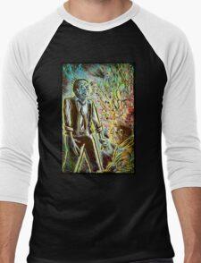 Scanners art print david cronenberg horror sci fi science fiction 1981 80's film movie michael ironside body horror cult classic joe badon Men's Baseball ¾ T-Shirt