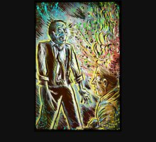 Scanners art print david cronenberg horror sci fi science fiction 1981 80's film movie michael ironside body horror cult classic joe badon Unisex T-Shirt