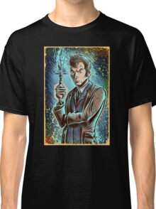 Dr Who David Tennant Art Print the doctor who bbc sci fi tenth doctor 10th time lord travel machine tardis space sonic screwdriver face bo Classic T-Shirt