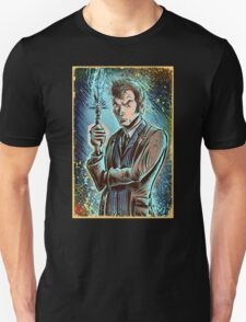 Dr Who David Tennant Art Print the doctor who bbc sci fi tenth doctor 10th time lord travel machine tardis space sonic screwdriver face bo T-Shirt