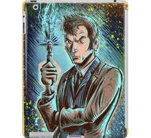 Dr Who David Tennant Art Print the doctor who bbc sci fi tenth doctor 10th time lord travel machine tardis space sonic screwdriver face bo iPad Case/Skin
