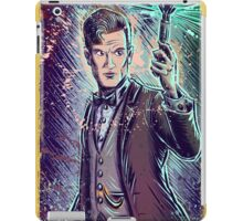 Dr Who Matt Smith Art Print the 11th doctor who BBC British Television Show Series bow tie sonic screwdriver fez joe badon science fiction iPad Case/Skin