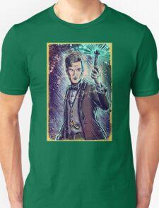 Dr Who Matt Smith Art Print the 11th doctor who BBC British Television Show Series bow tie sonic screwdriver fez joe badon science fiction T-Shirt