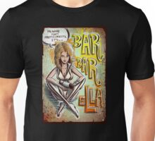 Barbarella Art Print science Fiction Fantasy Jane Fonda Space Queen of the Galaxy Erotic Sex Sexy Laser Ray Gun Erotica French italian badon Unisex T-Shirt