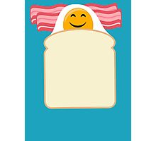 Good Morning Breakfast Cute Bacon and Egg T Shirt Photographic Print