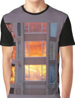 Sunset Sky Fire Graphic T-Shirt