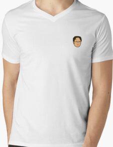 Dwight Schrute Mini Head Mens V-Neck T-Shirt