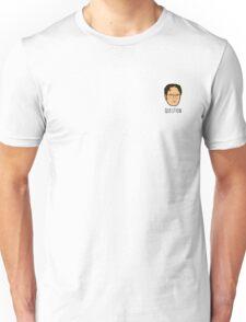 Dwight Schrute Mini Head - Question Unisex T-Shirt