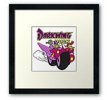 Darkwing Duck Motorcycle Framed Print