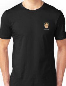 Dwight Schrute Mini Head - Question White Text Unisex T-Shirt