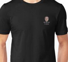 Kip Dynamite Mini Head - College White Text Unisex T-Shirt