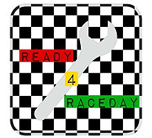 Black and White Check Checkered Flag Motorsports Race Day + Chess Photographic Print