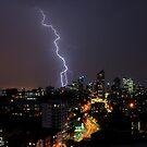Lightning Storm Sydney Australia by Neville Gafen