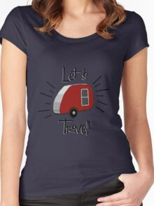 Retro Teardrop Camper  Women's Fitted Scoop T-Shirt