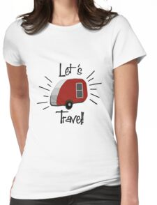 Retro Teardrop Camper  Womens Fitted T-Shirt