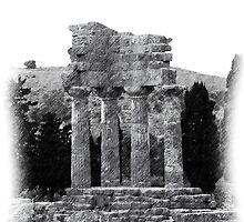 Temple of the Dioscuri - Pencil Drawing by Francis Drake