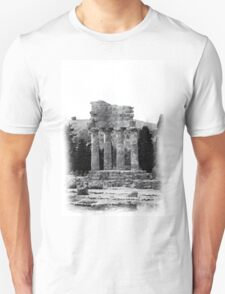 Temple of the Dioscuri - Pencil Drawing T-Shirt