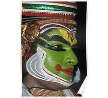 Sweat beads a Kathakali dancer in Kerala Poster