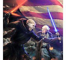Bernie Skywalker vs. Darth Trump Photographic Print