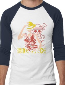 One Piece Monkey D. Luffy, Vector Anime Men's Baseball ¾ T-Shirt
