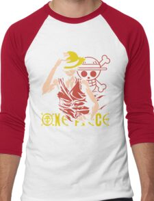 One Piece Monkey D. Luffy, Vector Anime Men's Baseball ¾ T-Shirt