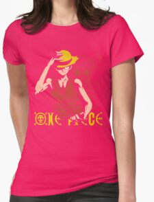 One Piece Monkey D. Luffy, Vector Anime Womens Fitted T-Shirt