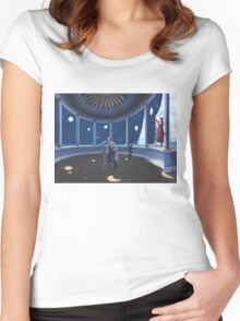 painting,space,star,scope Women's Fitted Scoop T-Shirt