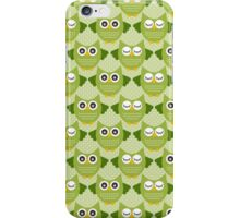 Retro Owls - Lime Green iPhone Case/Skin