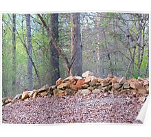 Rock fence Poster