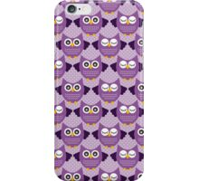 Retro Owls - Purple iPhone Case/Skin