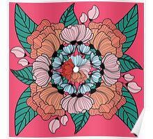 Ornate Floral  Poster