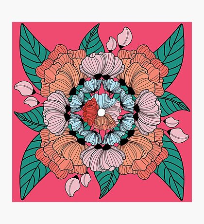 Ornate Floral  Photographic Print