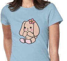 Cute Loppy Bunny in Socks Womens Fitted T-Shirt