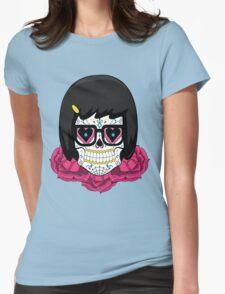 Sugar Skull Tina Womens Fitted T-Shirt