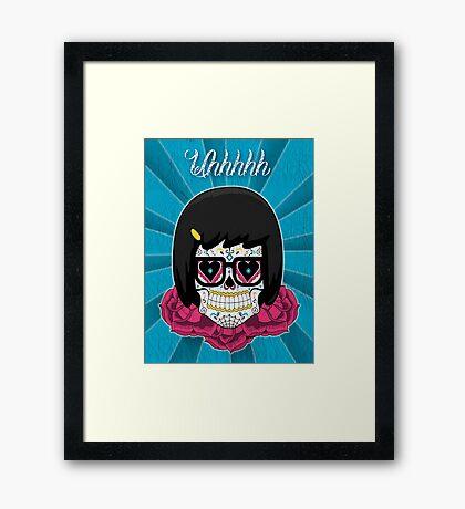 Sugar Skull Tina Framed Print