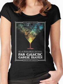 Pan-Galactic Gargle Blaster Poster Women's Fitted Scoop T-Shirt