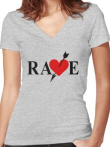 Rave Women's Fitted V-Neck T-Shirt
