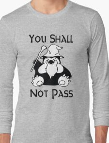 Pokemon Snorlax Quote Long Sleeve T-Shirt