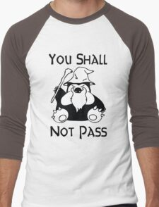 Pokemon Snorlax Quote Men's Baseball ¾ T-Shirt