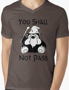 Pokemon Snorlax Quote Mens V-Neck T-Shirt