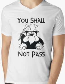 Pokemon Snorlax Quote Mens V-Neck T-Shirt