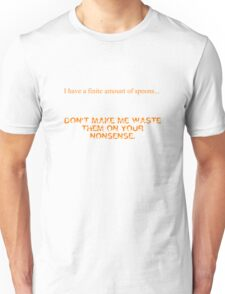 Finite Amount of Spoons-Clean Version Unisex T-Shirt