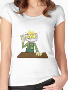 Chip the Mocha Man Women's Fitted Scoop T-Shirt