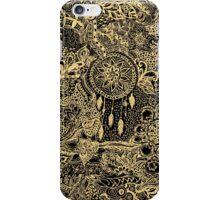 Hipster gold handdrawn dreamcatcher floral doodles iPhone Case/Skin