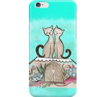 Vintage Cats in Love  iPhone Case/Skin