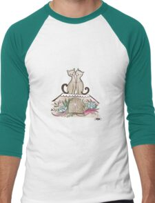 Vintage Cats in Love  Men's Baseball ¾ T-Shirt